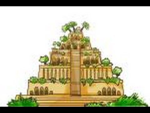 How To Draw Hanging Gardens Of Babylon Youtube Hanging Garden