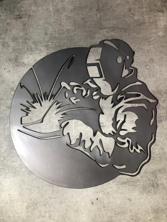 Welder Sign, Custom Metal Welder Sign, Metal Workshop Sign, Welding Sign, Personalised Plasma Cut Si