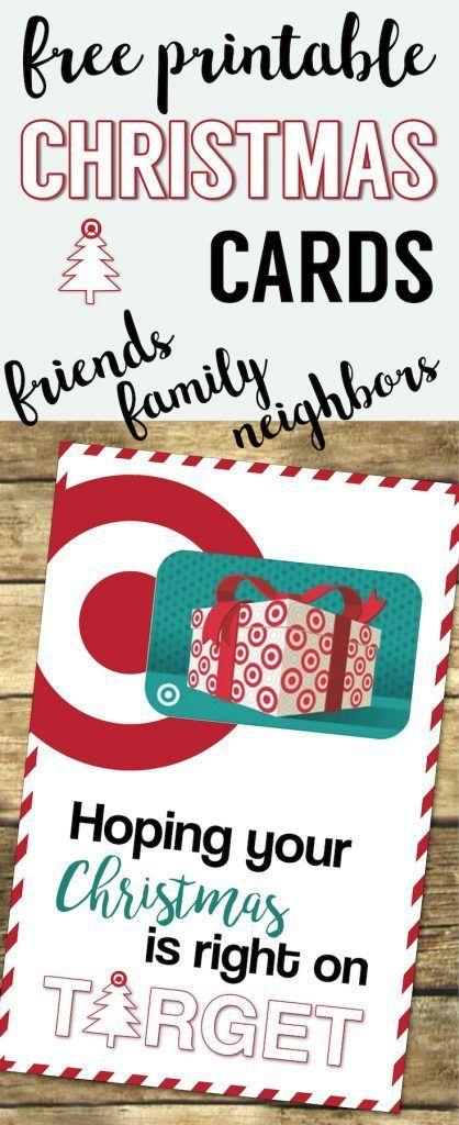 Target Christmas Gift Card Holders {Teachers, Friends, Neighbors}. Free  Printable Easy