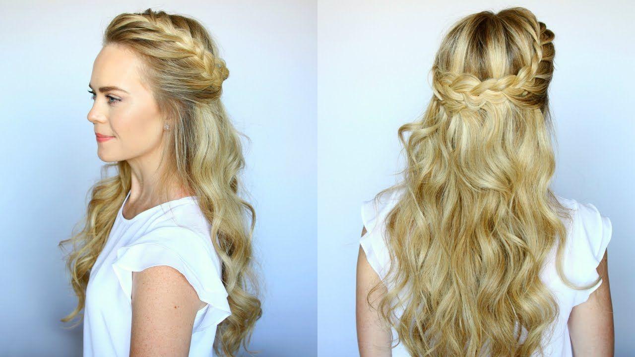 Hairstyles Braids Half Up: Missy Sue #Hair #Updo #HalfUp