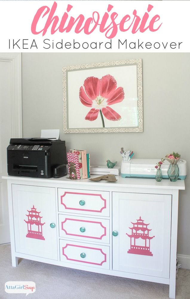 chinoiserie furniture ikea sideboard makeover atta girl says