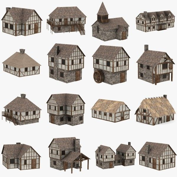 Medieval houses 3d max medieval houses by 3dmb sims for Medieval house design
