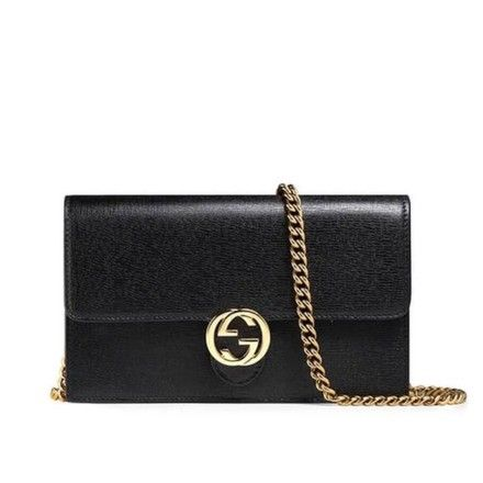 d4c12b597 Gucci Icon Smooth Gg Chain Wallet Black Leather Cross Body Bag. Get the  trendiest Cross Body Bag of the season! The Gucci Icon Smooth Gg Chain  Wallet Black ...
