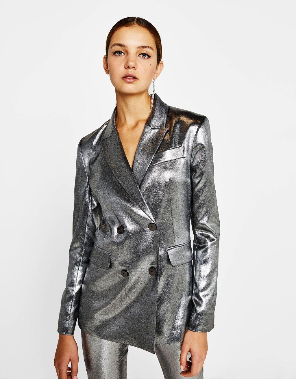 537181b3909af Gift Guide - Silver tailored blazer - Bershka #silver #tailored #blazer  #party #masculine #bershka