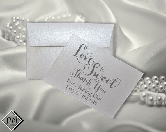 Love Is Sweet Thank You For Making Our Day Complete by PicmatCards