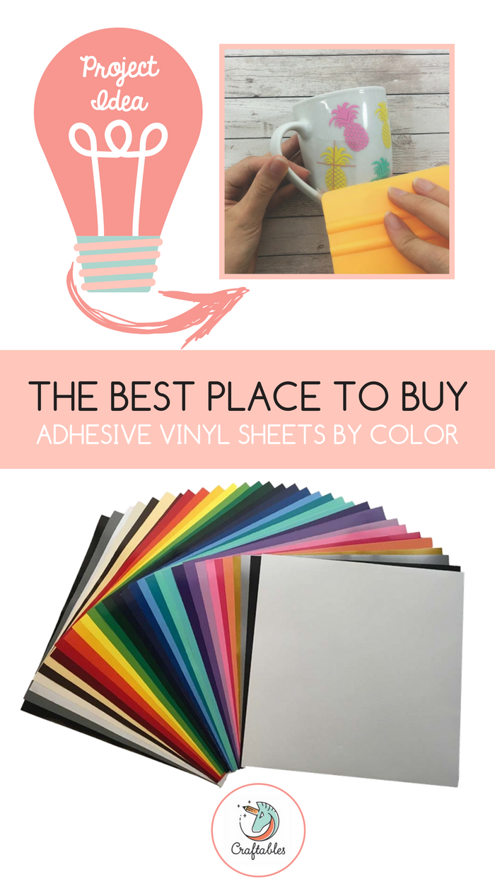 Adhesive Vinyl Sheets 12 X 12 Permanent Outdoor Vinyl For Cricut Silhouette By Craftables Adhesive Vinyl Sheets Adhesive Vinyl Vinyl Sheets