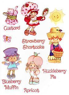 vintage strawberry shortcake characters  Google Search  Cartoon