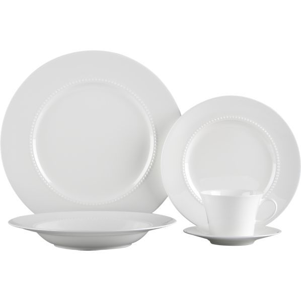 White Pearl 5 Piece Place Setting In Dinnerware Sets Crate And