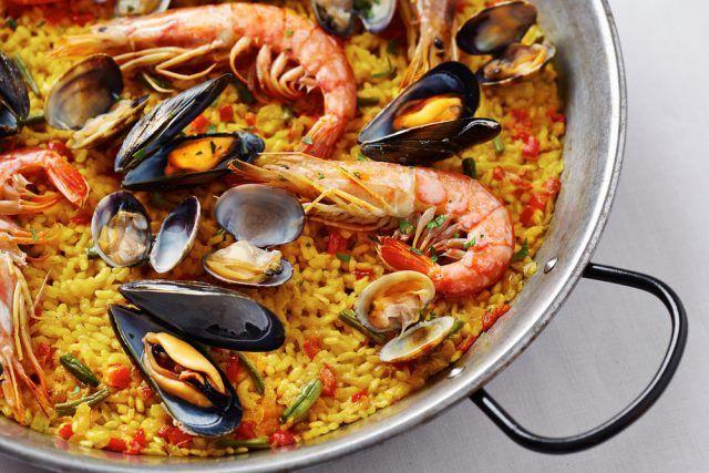 Receta De Paella De Marisco Thermomix Unareceta Com Receta Paella De Mariscos Receta De Paella De Mariscos Paellas Receta