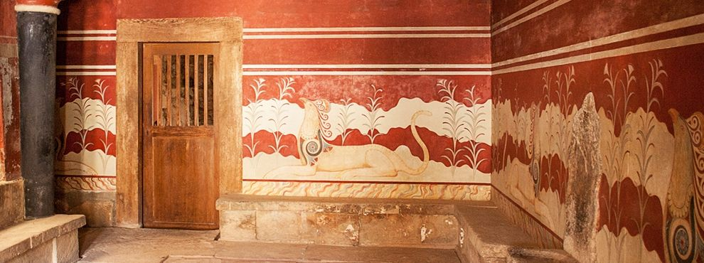 The Interior Of The Knossos Palace One Of The Best