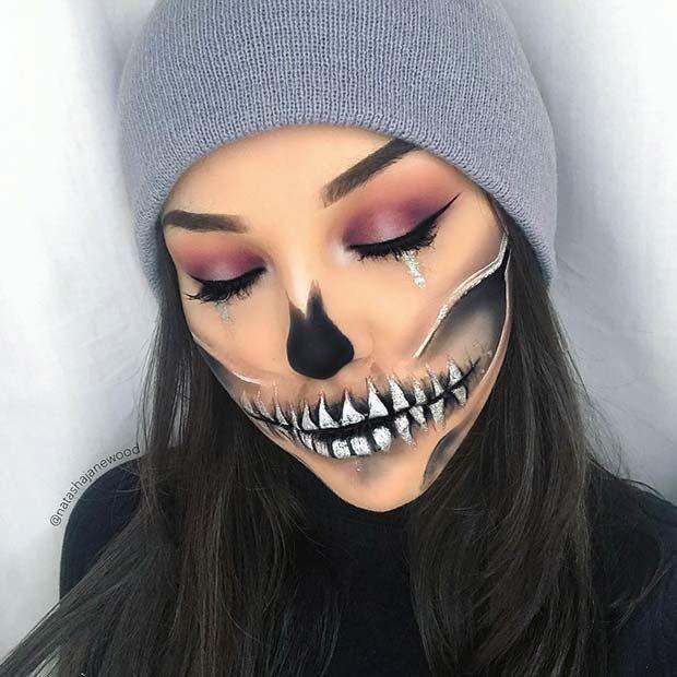23 Einfache Halloween-Kostüme nur mit Make-up #fallmakeuplooks