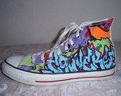 Vintage Chuck Taylor Converse Graffiti
