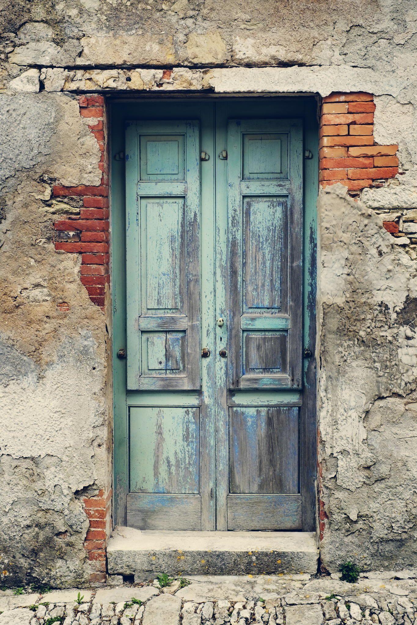 Old Door In Erice Rustic Doors Doors Old Door