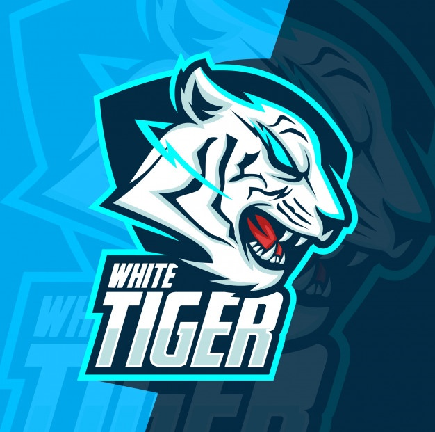 White Tiger Mascot Esport Logo Design Logo Keren Desain Logo Seniman Jalanan