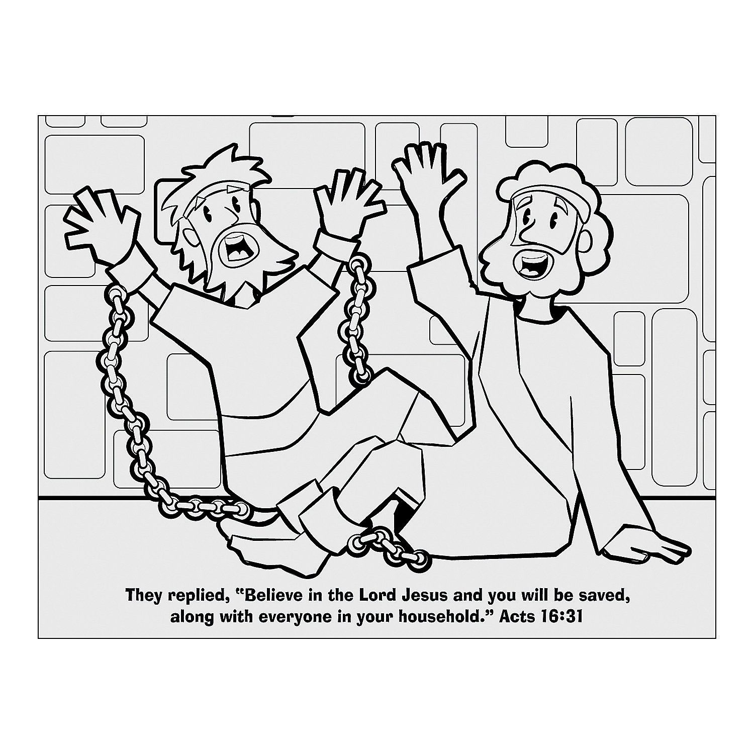 Paul And Silas Coloring Page | Sunday school coloring ...