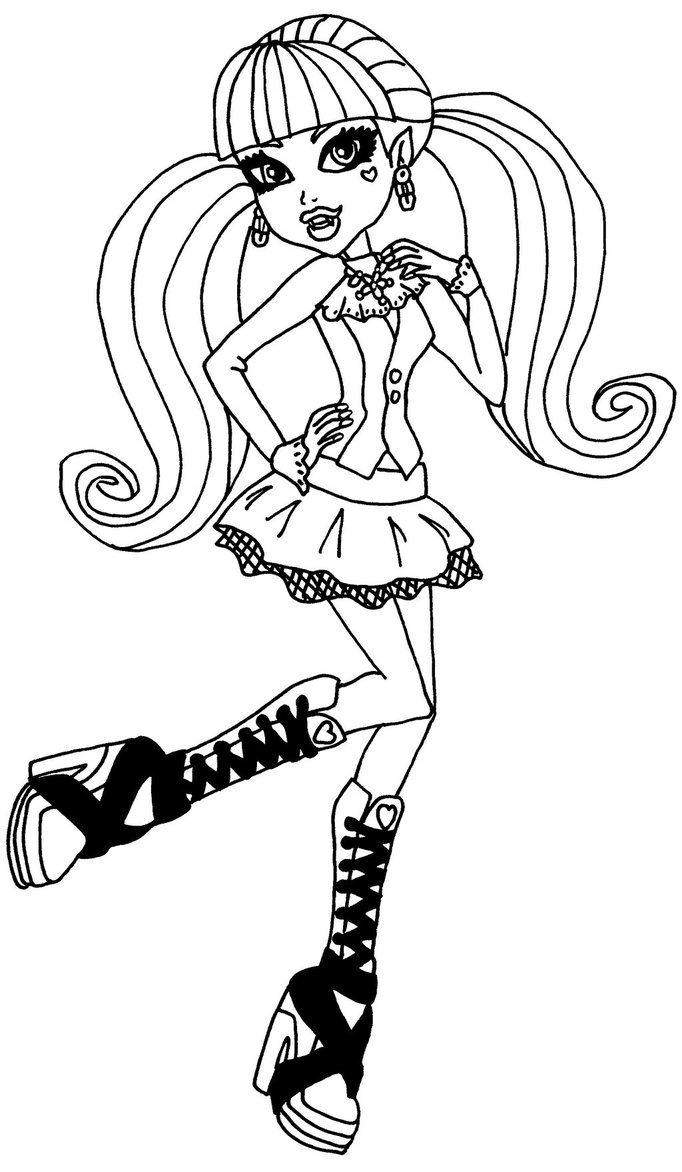 Find This Pin And More On Coloring Pages For Kids By Cachipka A Page Of Draculaura From Monster High
