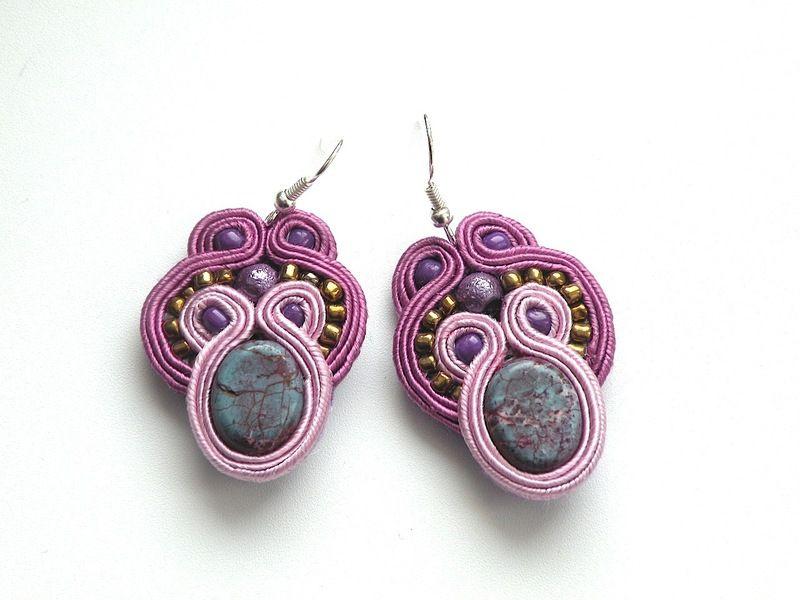 Bella  - soutache earrings
