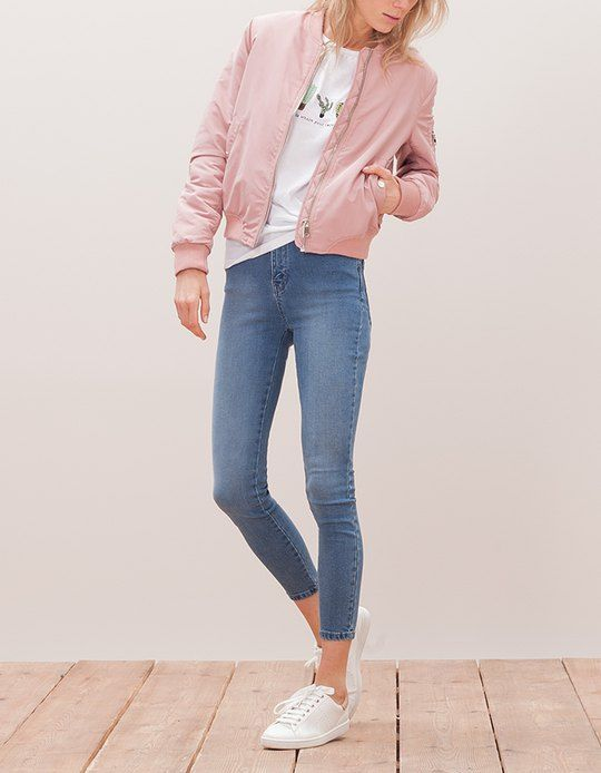 1bed88ced94 At Stradivarius you ll find 1 Bomber jacket for woman for just 459.9 IDR .  Visit now to discover this and more BOMBERS.