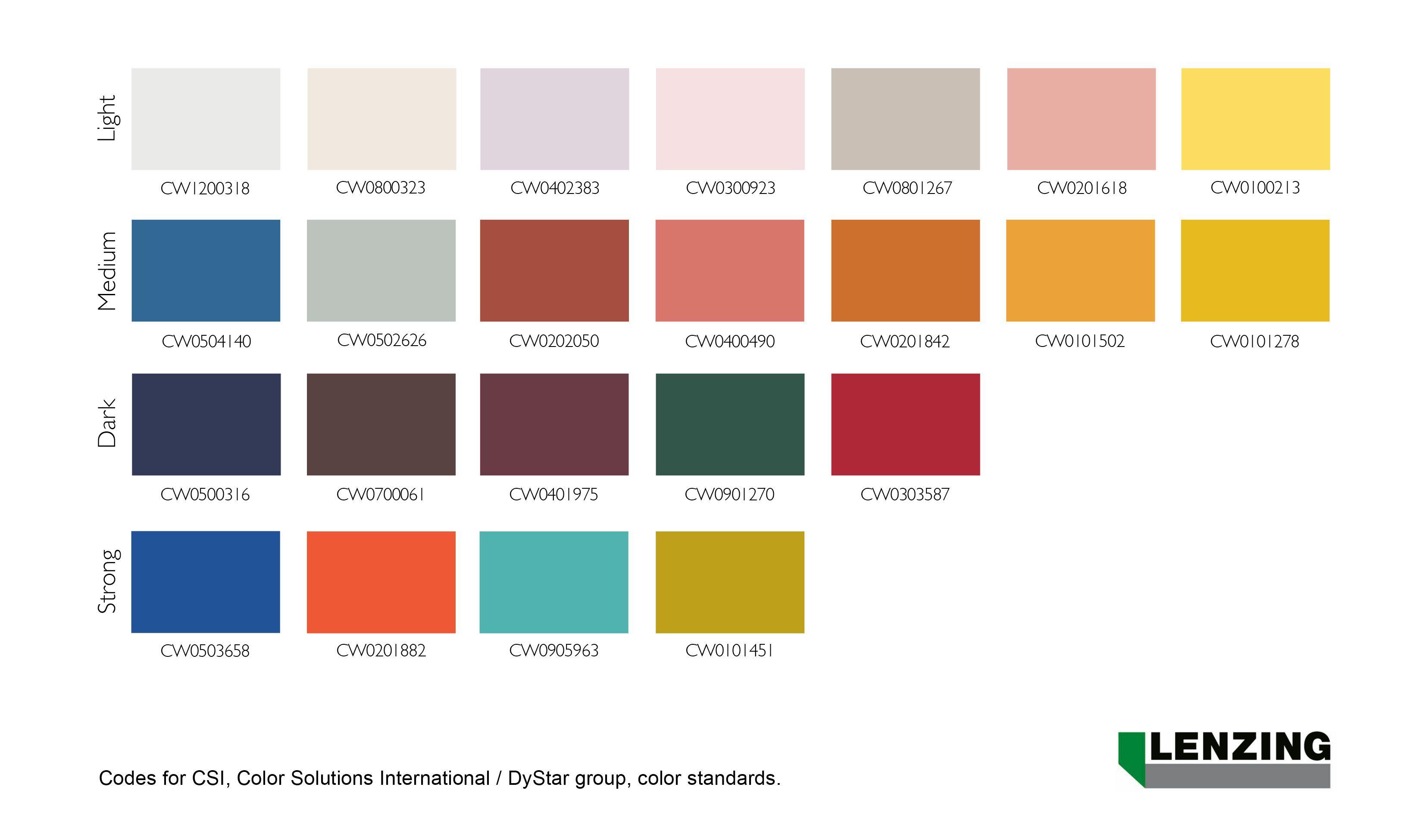 Lenzing Fashion Color Trends Spring Summer 2018 Color Trends Color Trends 2018 Pantone Color