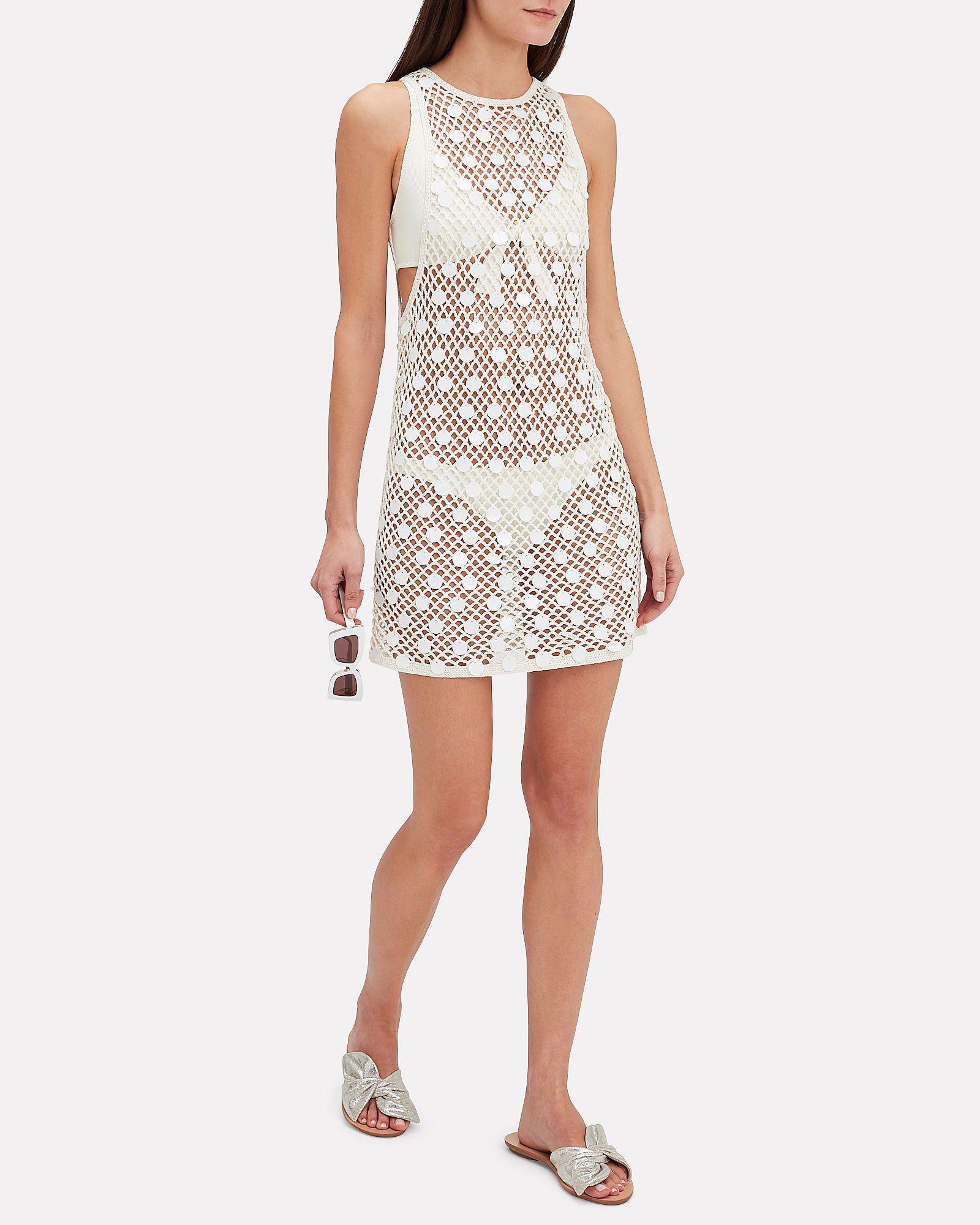 Crochet Mini Dress White Hi Res Crochet Mini Dress Mini Dress Dresses