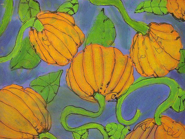 Pumpkins Sign Of Pumpkins Garden Coloring Page Pumpkin