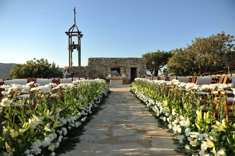 Arnaoon village wedding venue in lebanon white ceremony arnaoon village wedding venue in lebanon white ceremony decoration church area junglespirit Image collections