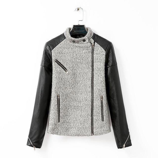 Faux Leather Zip Jacket - Neeya | YESSTYLE