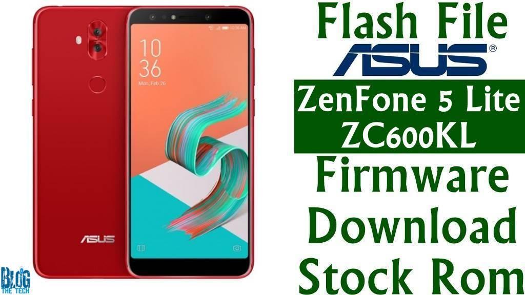 Flash File] Asus ZenFone 5 Lite ZC600KL Firmware FOTA