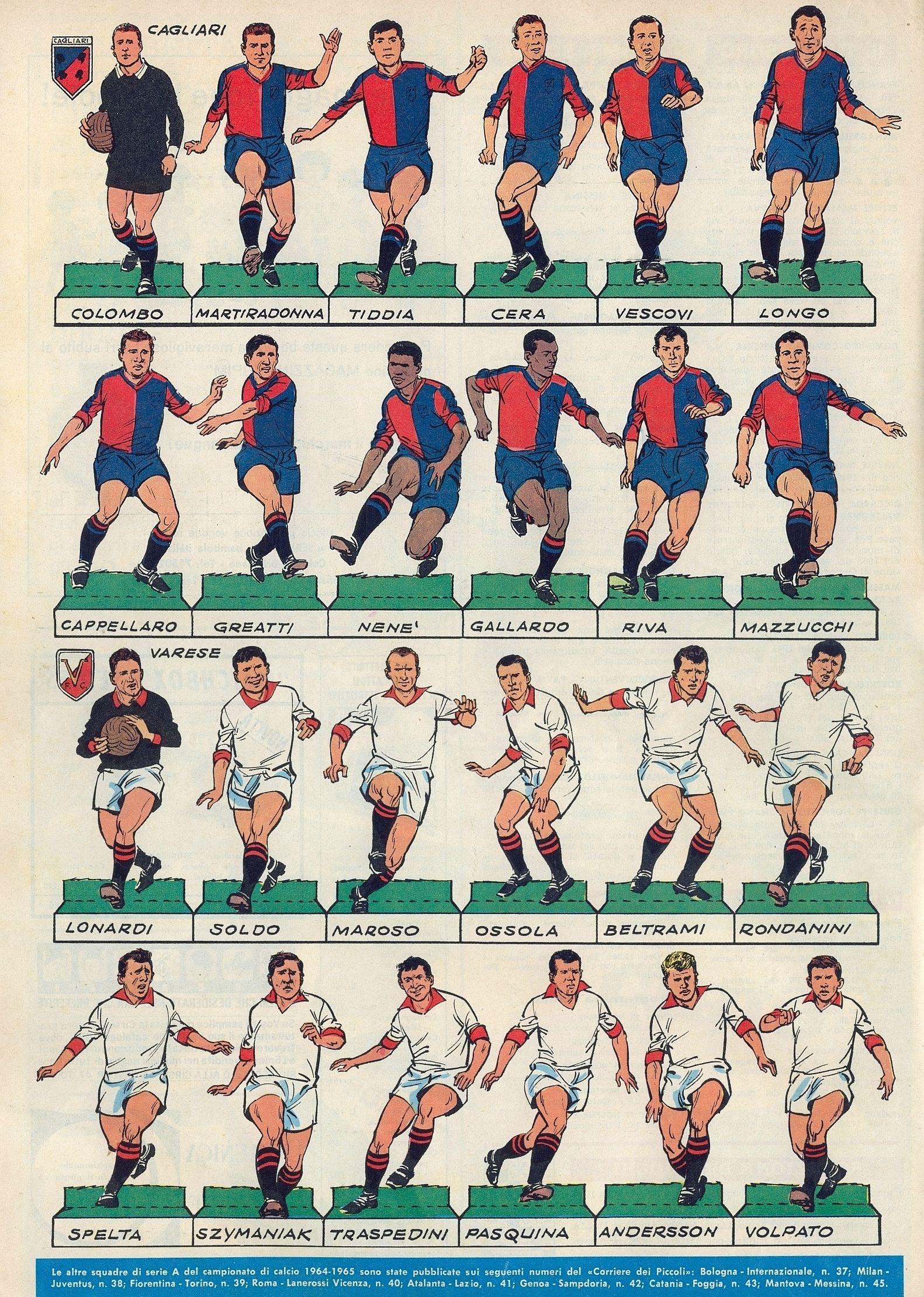 Serie A 1964/65 Calciatori, Calcio, Figurine di calcio