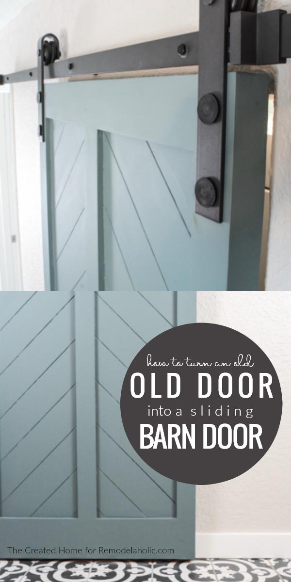 How To Turn An Old Interior Door Into A Diy Barn Door Tutorial Remodelaholic Room Door Design Making Barn Doors Barn Doors Sliding