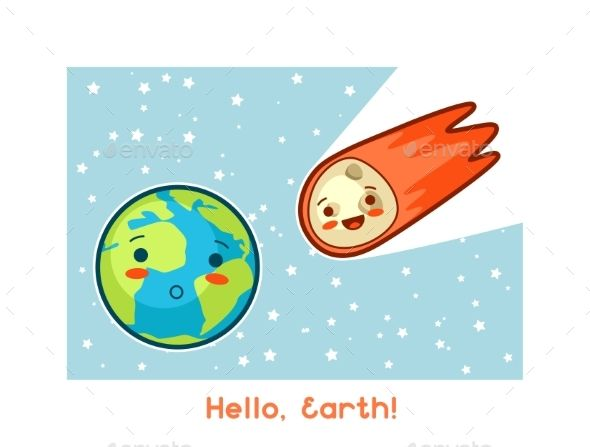 Download Free Graphicriver Hello Earth #asteroid #astrology
