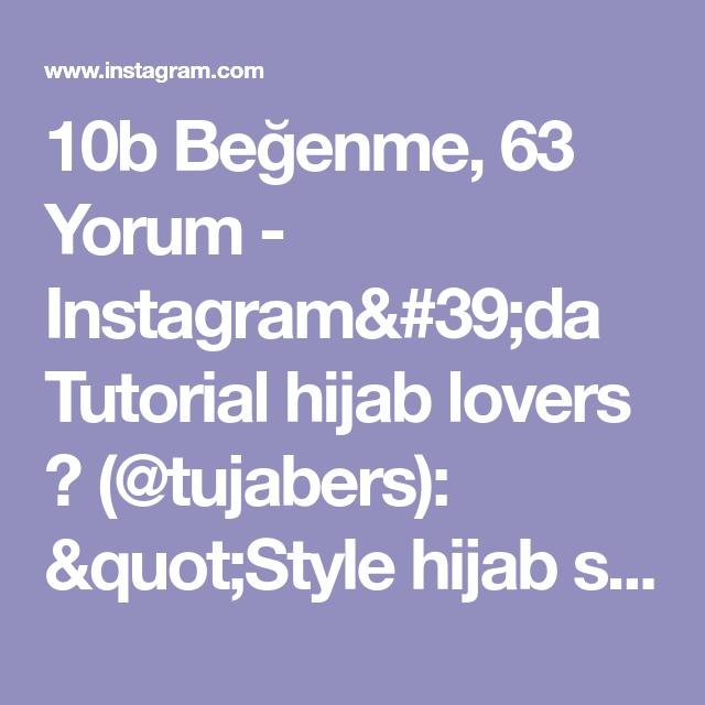 "Photo of Tutorial hijab lovers 💗 on Instagram: ""Style hijab segiempat simple buat ngantor/daily . . 👉 Hijab : segiempat . . 👉 Follow @tujabers for your hijab styles.. . . #Repost…"""