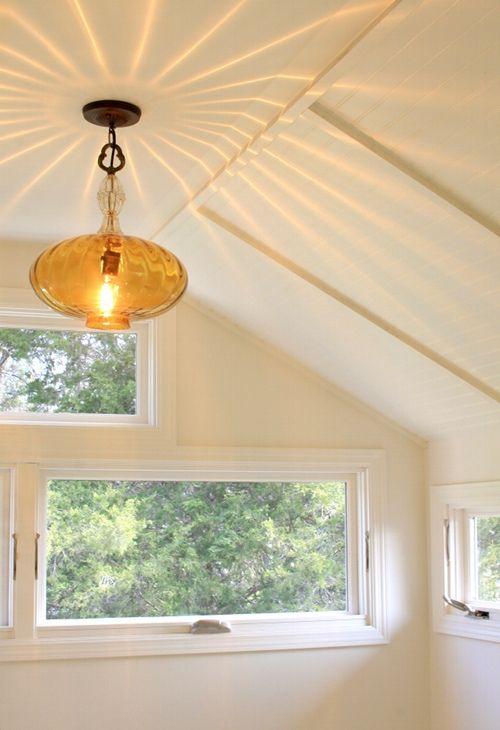 vintage-inspired light - attic studio space