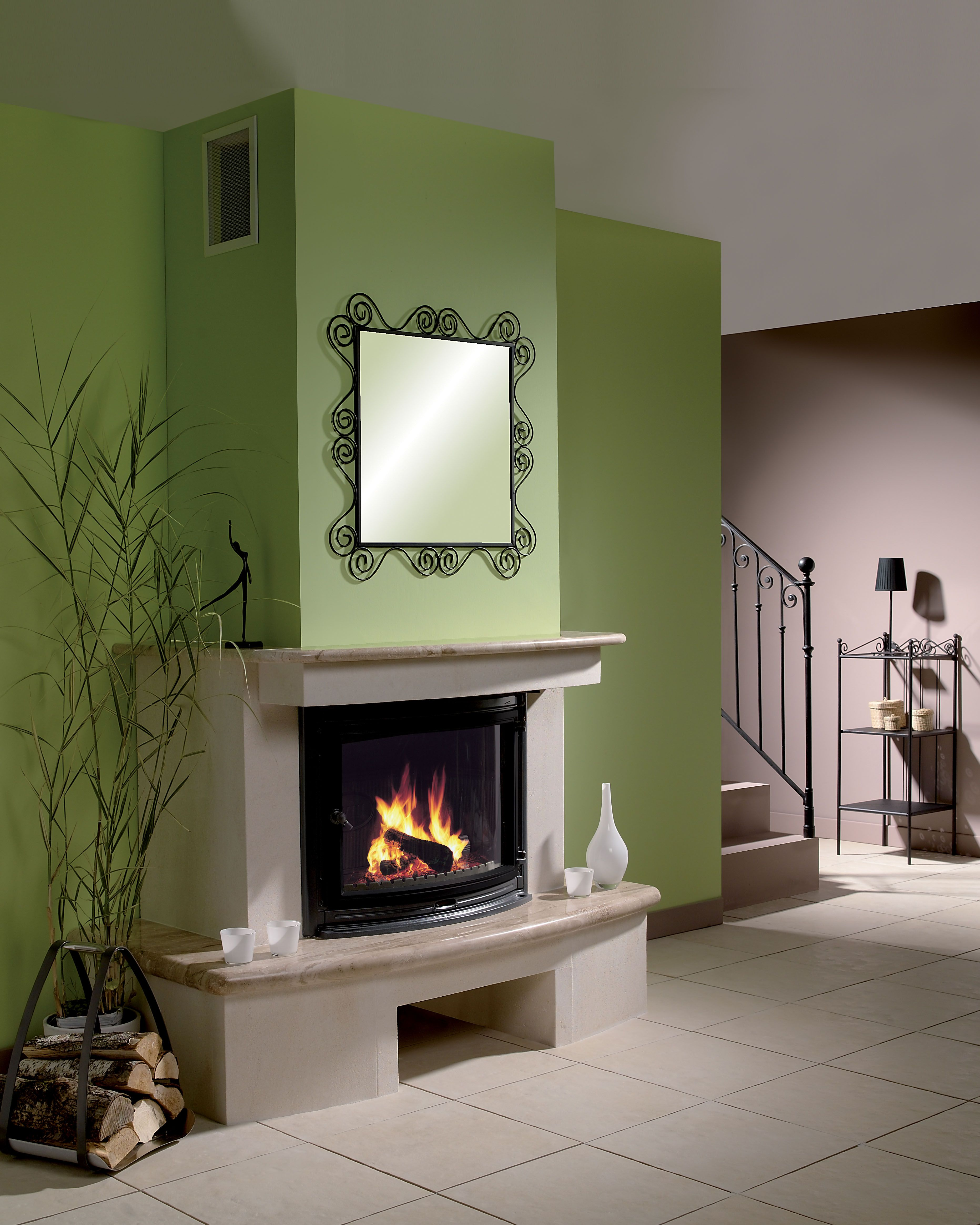 18 Fireplace Insert This Is A Large Fireplace Insert In A Contemporary Design With