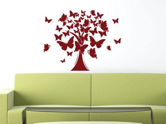 Wandtattoo Lebensbaum Deko Aufkleber für Wohnzimmer Baum