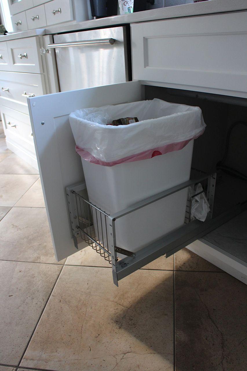 Slip Slidin Away To Trash Organization Heaven Under Kitchen