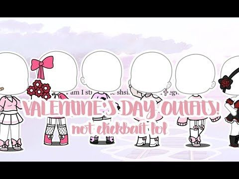 Valentine S Day Outfits Gacha Life Youtube Anime Ropa Bocetos De Ropa Ropa Kawaii