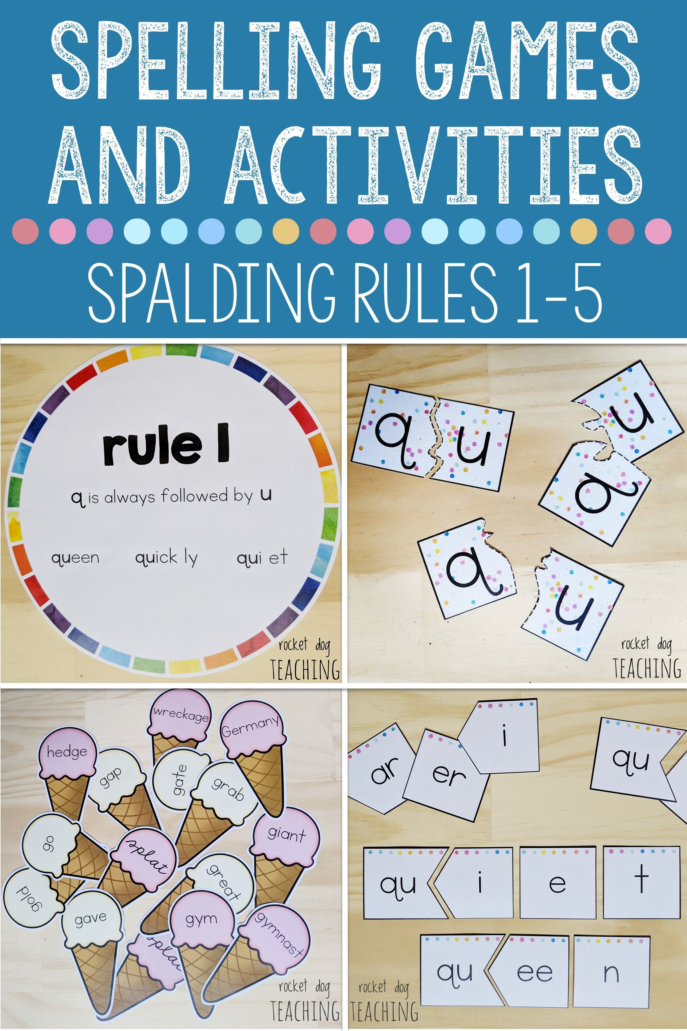 Spelling Rules Games And Activities Rules 1 To 5 For