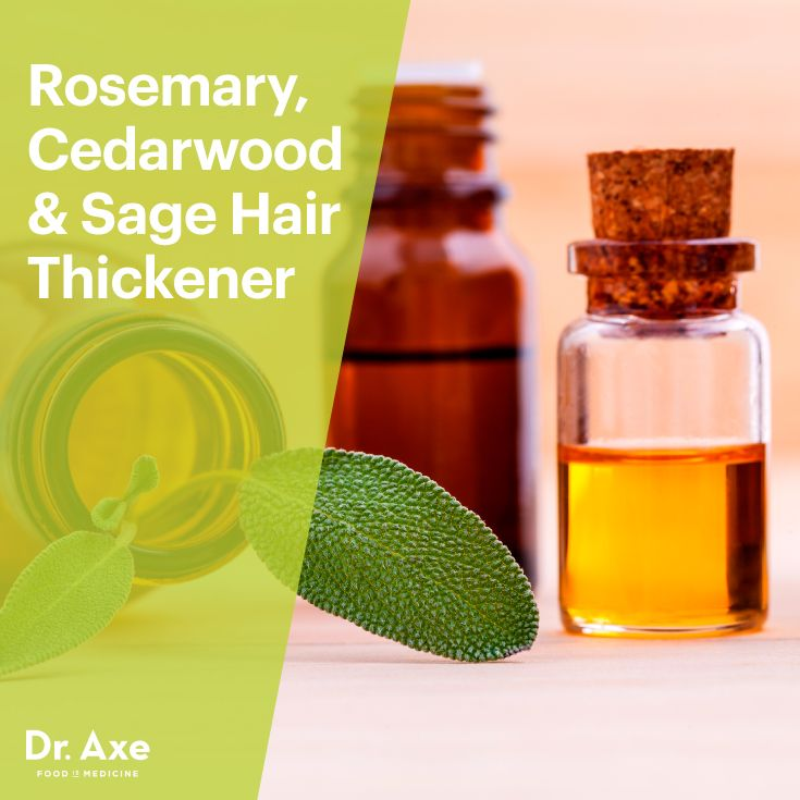 Rosemary Cedarwood Sage Hair Thickener Recipe Hair