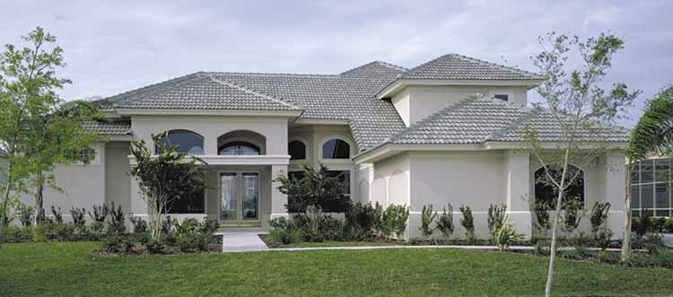 Mediterranean House Plan With 3084 Square Feet And 4 Bedrooms S From Dream Home Source Courtyard House Plans Courtyard House Mediterranean Style House Plans
