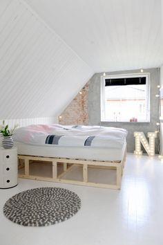 Scandi bedroom.