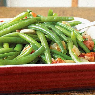 Who doesn't like green beans with smoked BACON and onions?