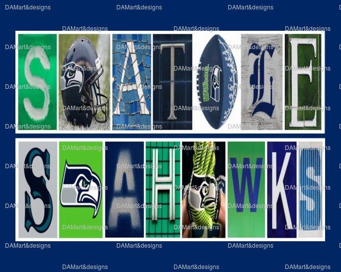 Seattle Seahawks Framed Alphabet Photo Art Print by DAM art ...