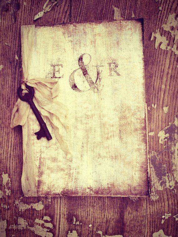 Rustic Wedding Invitations Book Pocket fold by ShabbyScrap on Etsy