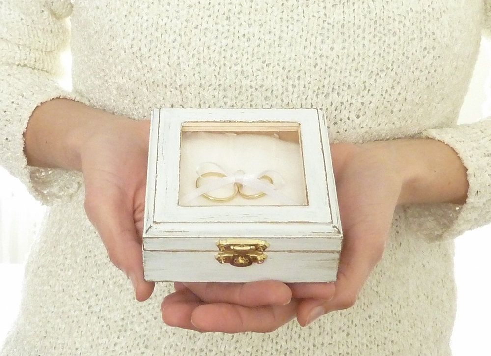 His /& Hers Ring Boxes Wood Wedding Box Flower Handmade Ring Box Ring Bearer Box Jewelry Box Pill Box Ring Box Wedding Ring Rustic Box