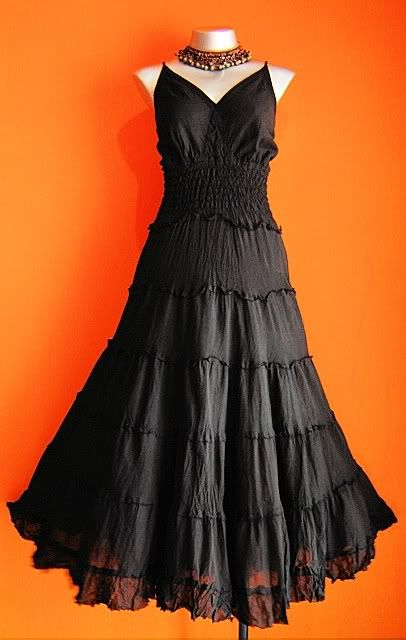NEW LONG BLACK GOTHIC DRESS Plus Size 20 22 24 Maxi Medieval ...