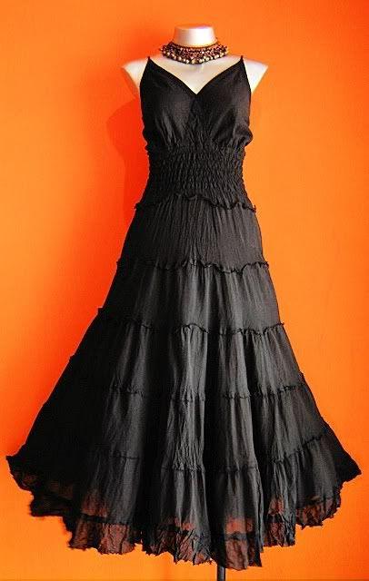b28f2b929e long black peasant dress