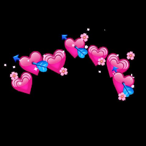 Popular And Trending Emoji Stickers On Picsart Pink Heart Emoji Heart Emoji Emoji Flower