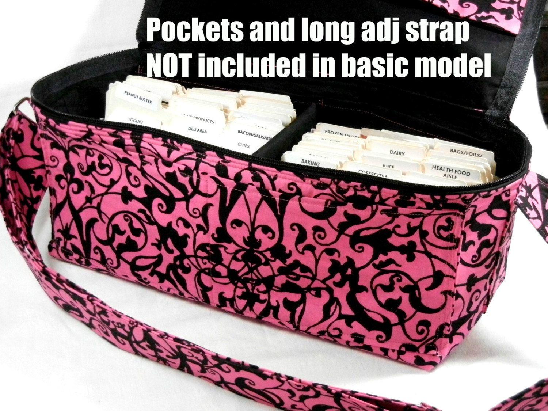 Coupon Organizer Holder Purse Size Wallet Trellis Scrolls Fabric
