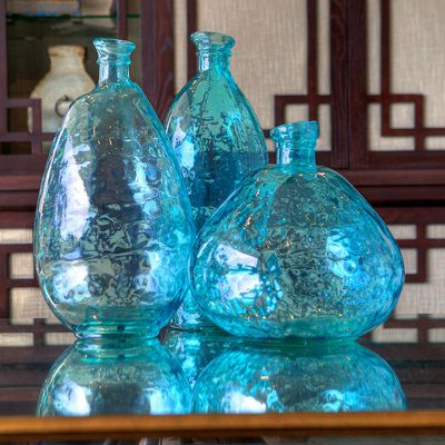 large vase march aqua vases ldn forest small products blue glass